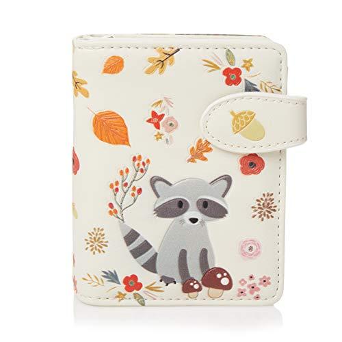 Shagwear portafoglio per giovani donne Small Purse : Diversi colori e design: (Procione/Raccoon)