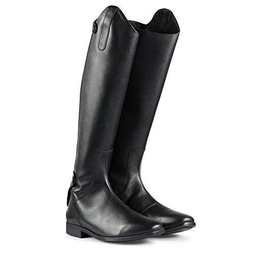 horze Elisa hohe Reitstiefel mit Reißverschlusshinten für Dressur oder Turnier, schwarz, alle Größen, schmal, normal und breit