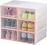Organizador de Calzado/En Zapatero Zapato Mueble de baño casero del Cubo de la Manera de Zapatero Armario Hombres (Color : Pink)