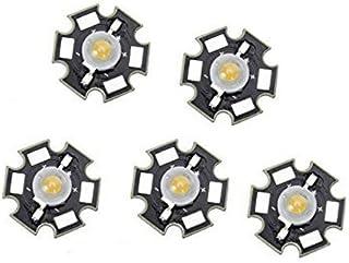 Haobase 5 piezas. Bombilla LED de 3 W y alta potencia, blanca cálida.