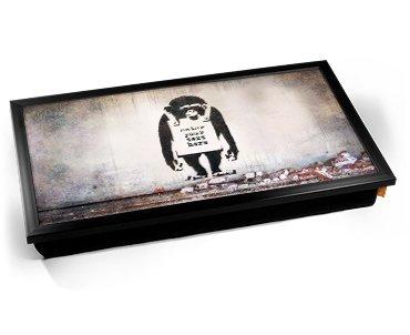 Unbekannt Personalised Banksy Chimp Custom Laptop Tray Laptoptisch Kissentablett [PC]