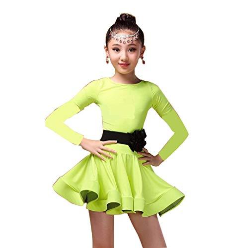 Mädchen Tanzkleid Latin Dance Kleid Salsa Rumba Tango Kostüm Kinder Tanzkleidung Wettbewerb Performance Dancewear