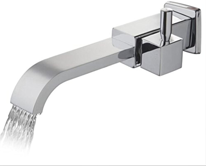 Makej Solid Brass Bath Basin Faucet Bathroom Bathtub Faucet Waterfall Spout Vessel Vanity Taps Bathroom Faucets Tap