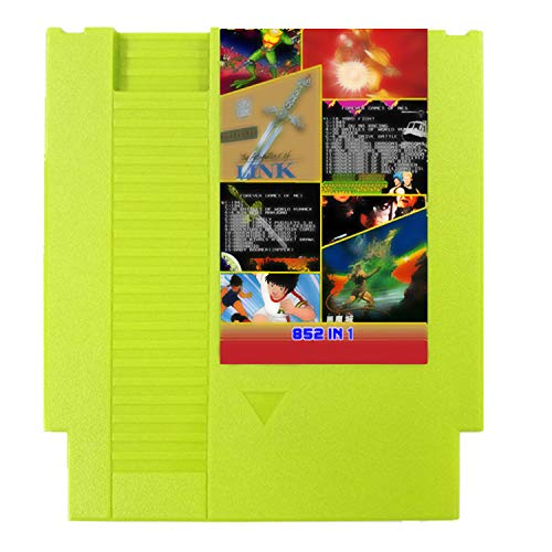 Cenxaki 852 in 1 Game Card Cartridge Compatible with Game Console (Green)