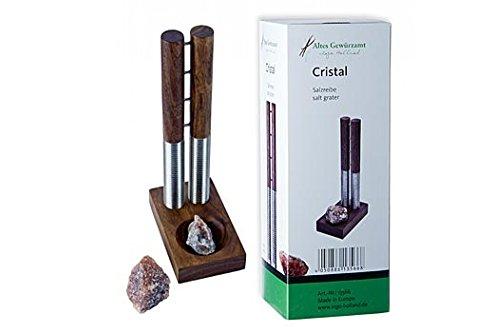 Cristal Salzreibe und Bergkernsalz Brocken, Altes Gewürzamt-Ingo Holland Edition, 2 tlg.