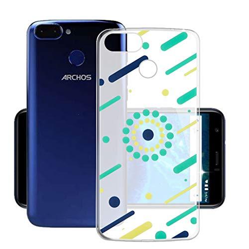 HHUAN Hülle für Archos Core 60s Semi-Transparent Hülle Dünn Weiche Silikon Kleine Punkte Stoßfest Handyhülle Tasche Schale Bumper TPU Schutzhülle Cover für Archos Core 60s (6.0