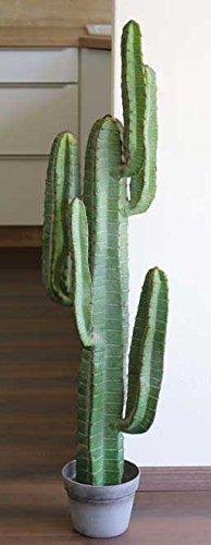 Artplants Cactus columnar Artificial Olivero en Maceta, Verde, 115cm - Planta del Desierto/Decoración mejicana