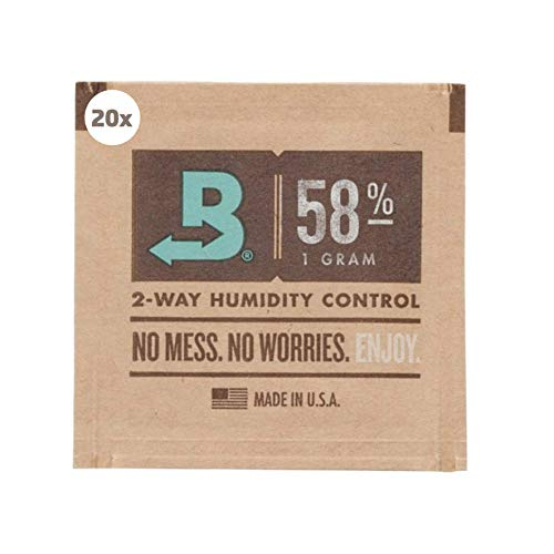 kogu Boveda Humidipack 2-Way Humidifer 1g Mini 58 Prozent inkl J.Hülle GRATIS (20x 1g)