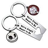 BNQL Jack and Sally Nightmare Before Christmas Bracelet Gifts Couples Matching Bracelet Gifts for Him/Her (keychain set)