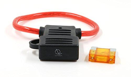 Lumision FAST Shipping MAXI Inline 10 AWG Fuse Holder (Weather/Splash Proof) Automotive and Marine + 40 AMP FUSE