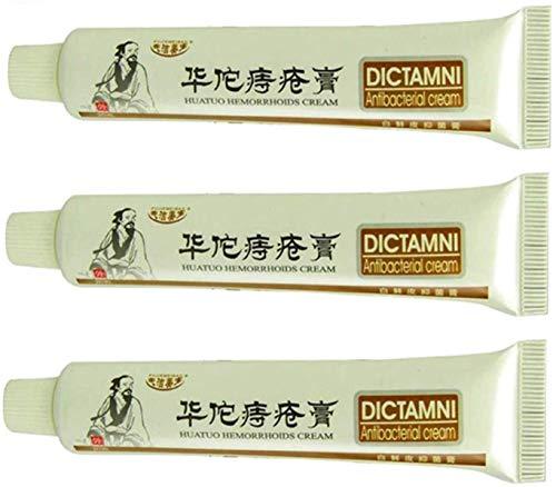 LOVER 3 pcs Hemorelief Cream Dictamni,Hemo Relief Cream Chinese Herbal Alleviate Hemorrhoid Treatment