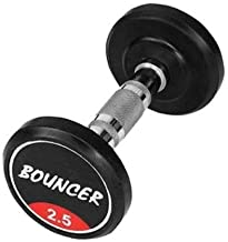 SHRI JI IMPEX Set of 2 Rubber Dumbbells Weights Fitness Home Gym Exercise Barbell (Pack of 2) Light Heavy for Women & Men'...