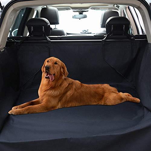Ghongrm Protector de Coche para Perros Negro Perro Bicicleta para Perros Coche Funda Protectora Universal para Perros con Protector Lateral