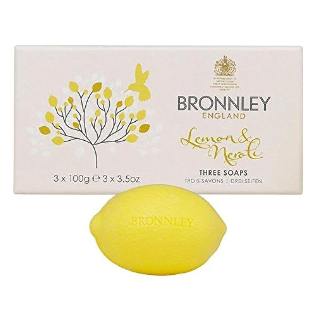 司法機械予定Bronnley Lemon & Neroli Soaps 3 x 100g (Pack of 6) - レモン&ネロリ石鹸3×100グラム x6 [並行輸入品]