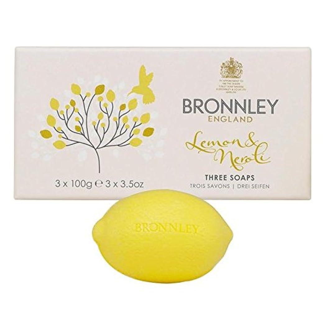 形欠乏出力Bronnley Lemon & Neroli Soaps 3 x 100g - レモン&ネロリ石鹸3×100グラム [並行輸入品]