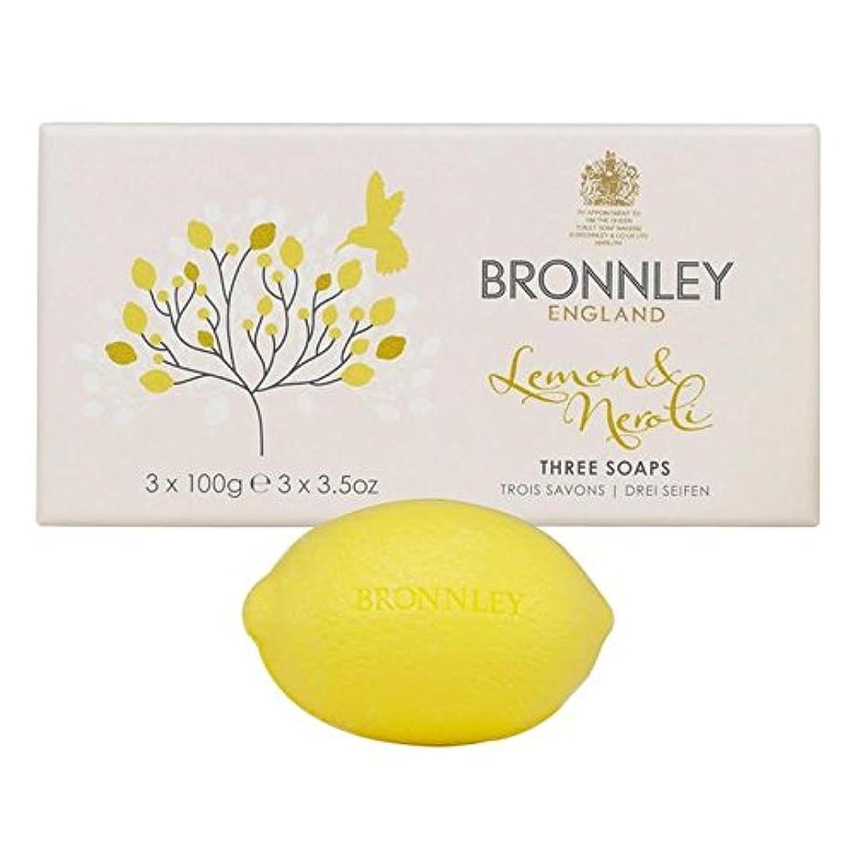 麻酔薬信者流行レモン&ネロリ石鹸3×100グラム x4 - Bronnley Lemon & Neroli Soaps 3 x 100g (Pack of 4) [並行輸入品]