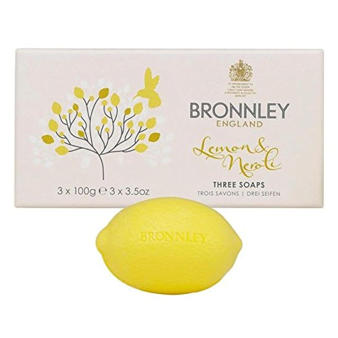 ジョリー硬さ受取人Bronnley Lemon & Neroli Soaps 3 x 100g (Pack of 6) - レモン&ネロリ石鹸3×100グラム x6 [並行輸入品]
