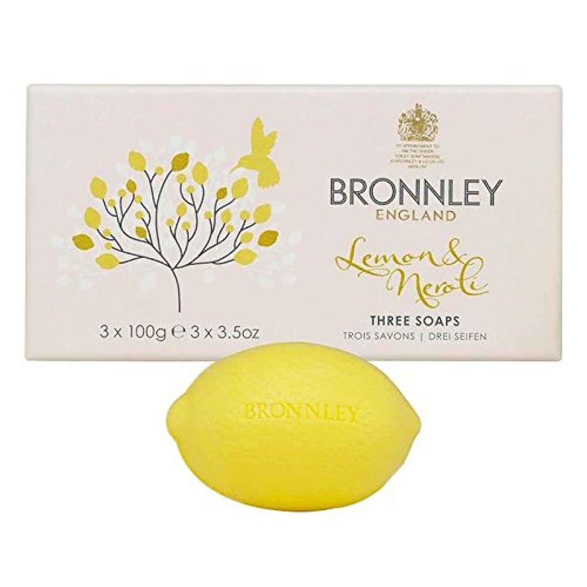短くするシャーコールドレモン&ネロリ石鹸3×100グラム x4 - Bronnley Lemon & Neroli Soaps 3 x 100g (Pack of 4) [並行輸入品]
