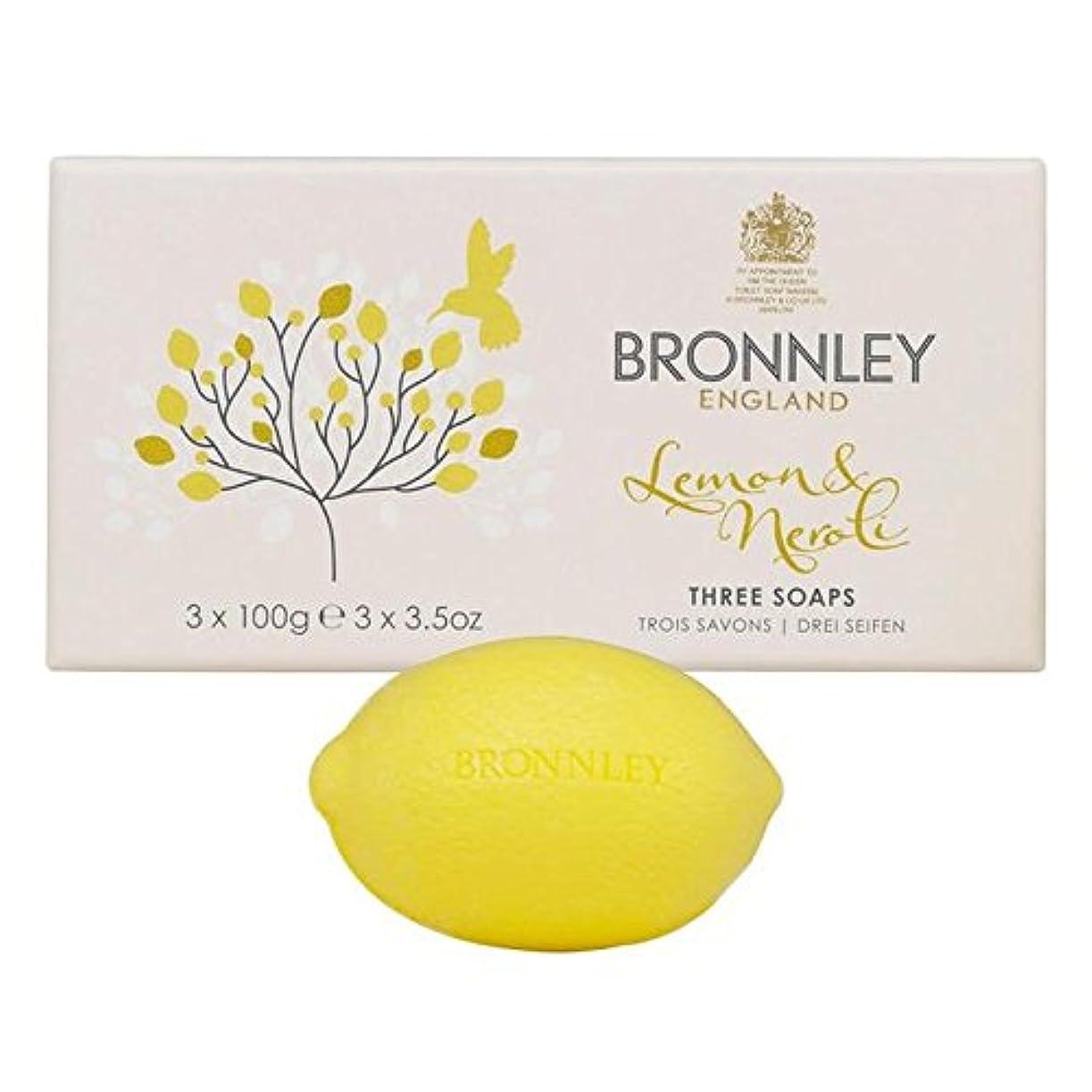 回る汚れる協会Bronnley Lemon & Neroli Soaps 3 x 100g - レモン&ネロリ石鹸3×100グラム [並行輸入品]