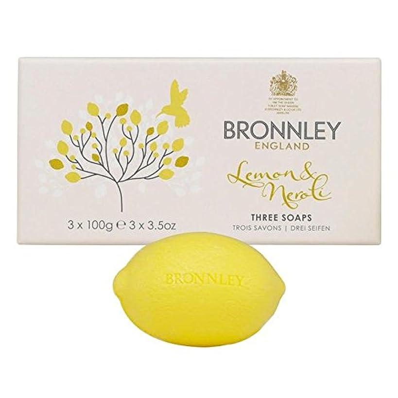 頼る見捨てるアーカイブBronnley Lemon & Neroli Soaps 3 x 100g - レモン&ネロリ石鹸3×100グラム [並行輸入品]