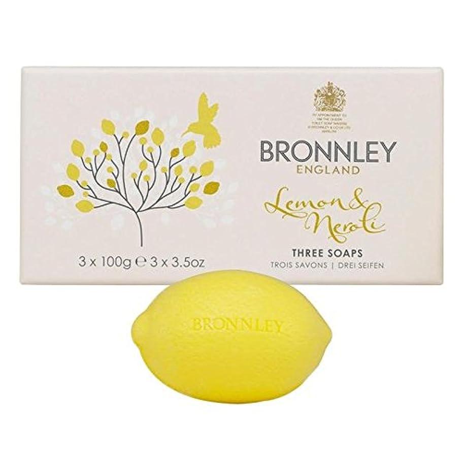 アナニバーわずかな部分的Bronnley Lemon & Neroli Soaps 3 x 100g (Pack of 6) - レモン&ネロリ石鹸3×100グラム x6 [並行輸入品]