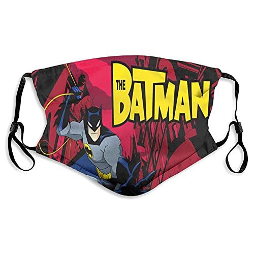 Hirola Bat-Man - Máscara facial antipolvo, resistente al viento, máscara de polvo ajustable con filtro lavable para adultos y niños, unisex, color negro