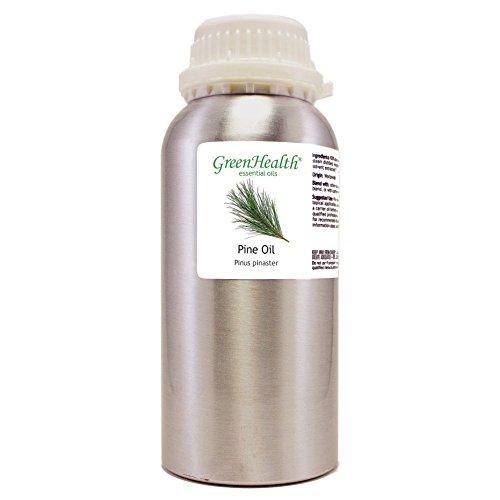 GreenHealth Pine – 16 fl oz (473 ml) Aluminum Bottle w/Plug Cap – 100% Pure Essential Oil