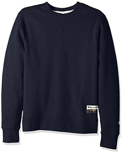 Champion Men's Authentic Originals Sueded Fleece Sweatshirt, Navy Heather, Large