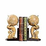 Marks Estatuas y estatuas de los Decoraciones de Libros de Escritorio de Oficina Retro Americana Americana Archivo Confíe en Accesorios de Libres Set Griek Warrior Sookends Office