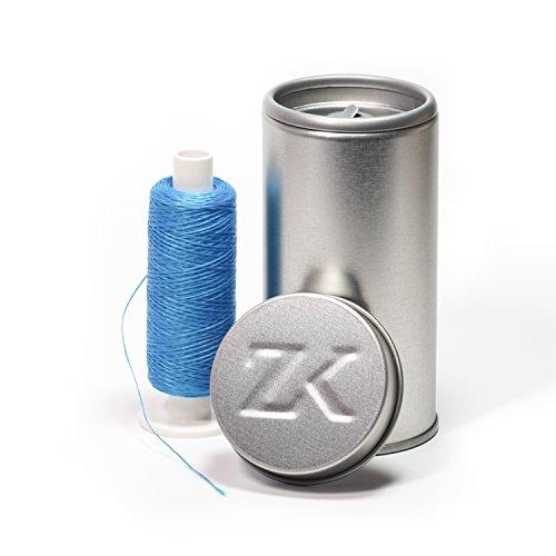 Polyester Zahnseide blau gewachst (Dose + 250 m)