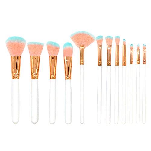 MEIYY Pinceau de maquillage Women'S Fashion Beauty 12 Pcs Pu Bag Makeup Brushes Set Eye Shadow Brush Cosmetics Blending Brush Tool