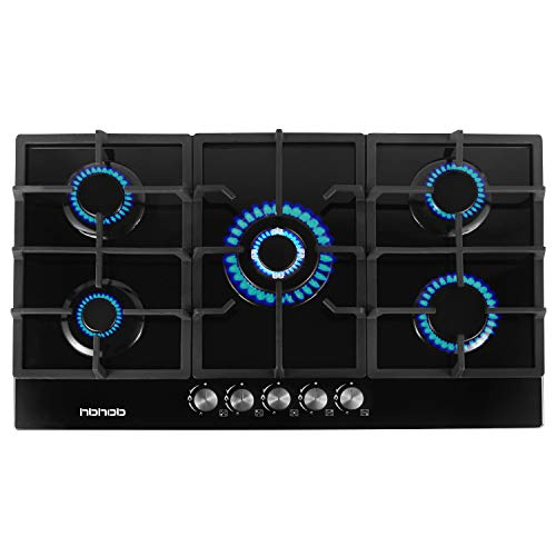 Gas Stove Gas Cooktop Tempered Glass Built in Gas Stove 5...