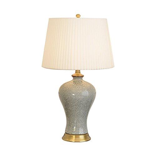 ASL Céramique Lampe de Table, Salon Chambre Bureau Lampe de Table Lampe de chevet Style Classique Bouton Interrupteur E27 * 1 Taille 3338 * 54-62CM Nouveau (taille : 38 * 62CM)