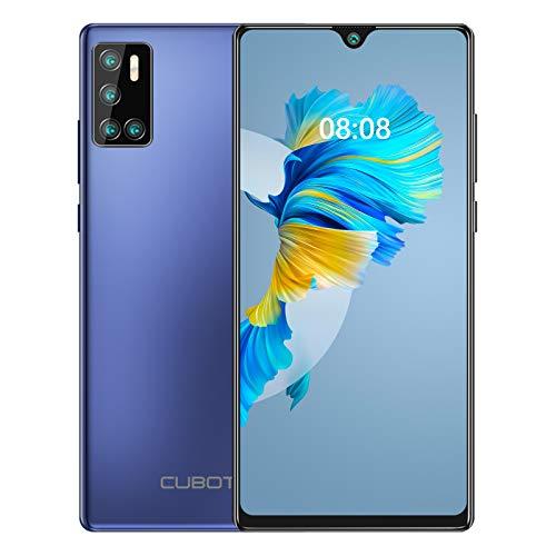 CUBOT J9(2020) Smartphone ohne Vertrag, Android 10 Go 15,6cm (6,2 Zoll) HD+ Display, 13MP-Quad-Kamera, 4200mAh Batterie 2GB/16GB, 128 GB erweiterbar, Dual Nano-SIM Handy (Blau)