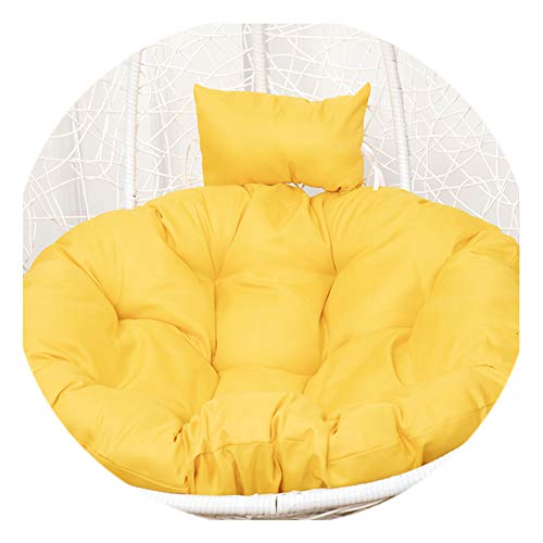 Papasan Round Chair Cushion, Solid Color Round Cushion, Removable And Washable, Both Indoor And Outdoor, Suitable For Wicker Chairs And Swings,07,120cm