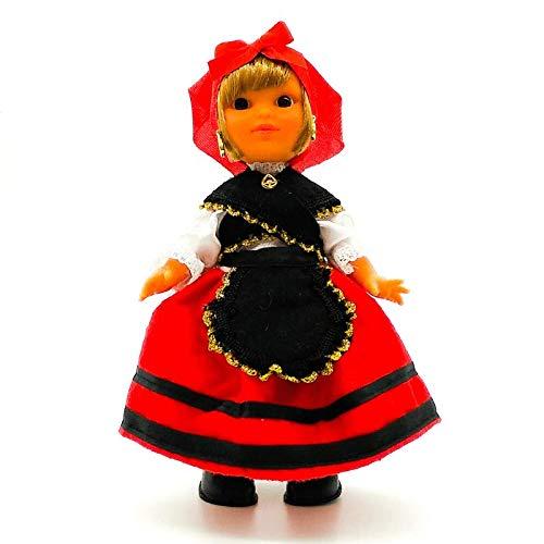 Folk Artesanía Muñeca Regional colección 25 cm Vestido típico Gallega Galicia España.