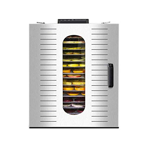 Sale!! XSWZAQ Food Dehydrator, 16 Layers Commercial Stainless Steel Fruit Dehydrator, 1500W Professi...