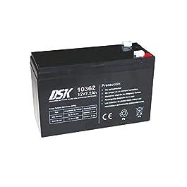 Batterie Plomb Haute décharge pour ups-sai 12V 7.2AH, Noir