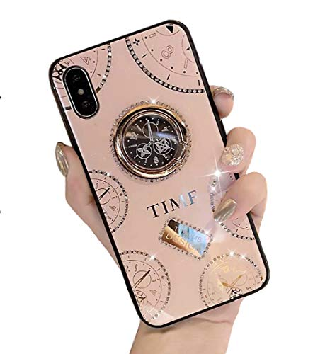 iPhone 12 Pro Max ケース リング付き 可愛い 時計柄 iPhone 12 Pro Maxケース リング キラキラ 懐中時計デザイン スマホケース 6.7インチ専用 2020【Sakanana】アイフォン12プロマックス ケース 人気 女性