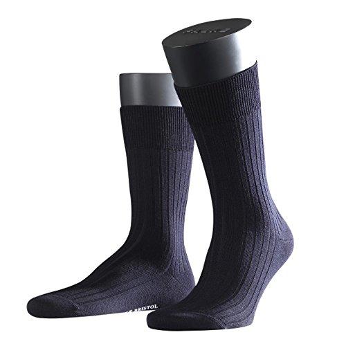 FALKE City Herren Socken Bristol Pure 2er Pack, Größe:41/42;Farbe:dark navy