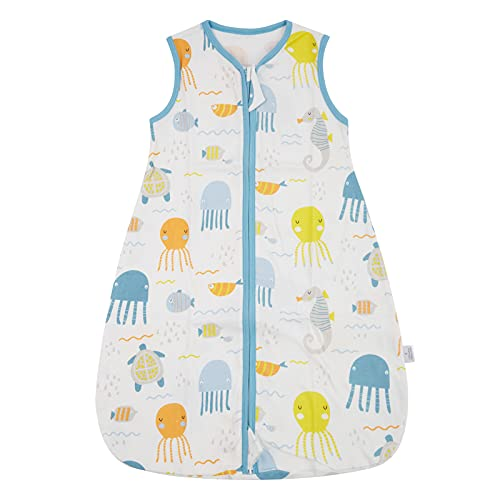 WangsCanis Toddler - Saco de dormir para bebé - Saco de dormir para bebé - Saco de dormir de verano - Cremalleras lisas ajustables - Unisex - Finas finas - Ropa ligera Medusa Medium