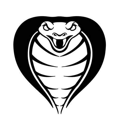 Auto Aufkleber Grafiken Cobra Dekorieren Auto Aufkleber Karosserie Autozubehör Vinyl Aufkleber 14,9 CM * 15,8 CM 2 Stück