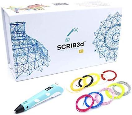 SCRIB3D P1 3D Printing Pen Bonus Set Includes SCRIB3D P1 3D Pen 3 Starter Colors of PLA Filament product image
