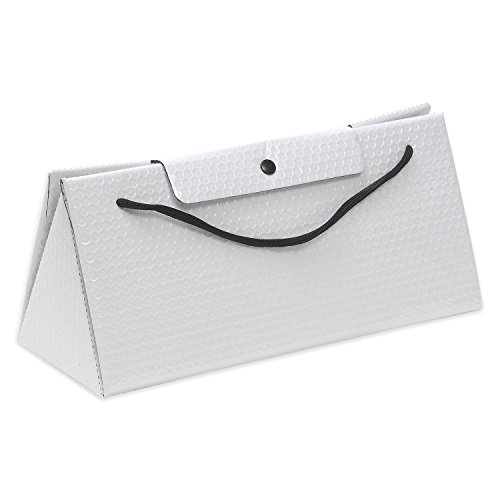 ExtraGourmet Isolier-Geschenkverpackung im Eleganten Taschenlook, weiß