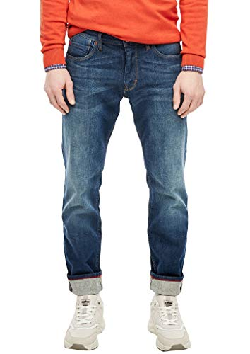 s.Oliver Herren Regular Fit: Straight leg-Jeans petrol stretched d 33.32