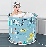 LQ-MAOZI Bañera de pie Plegable separada para la Familia, bañera Plegable portátil, bañera de hidromasaje, Mantenimiento eficiente de la Temperatura,F