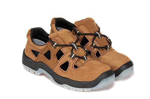 Arbeitssandale PPOKG 52N S1 SRC Schuhe Sandale Arbeitsschuhe Mit Stahlkappe Herrenschuhe (44 EU)