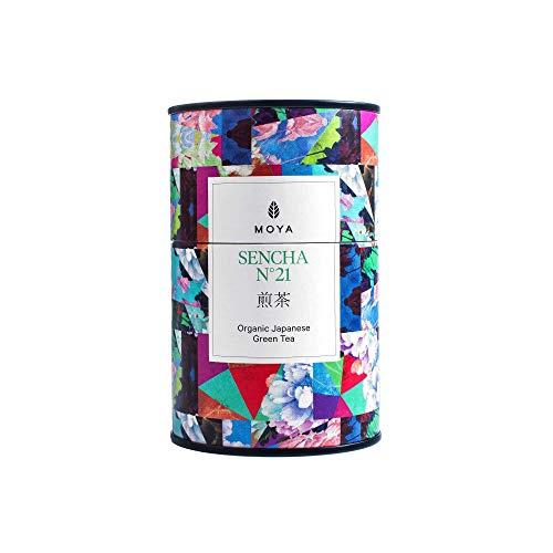 Organischer Moya Lose Blätter Tee Sencha No.21   60g   Vegetarisch und Vegan Freundlich   in mehrfarbiger Dose