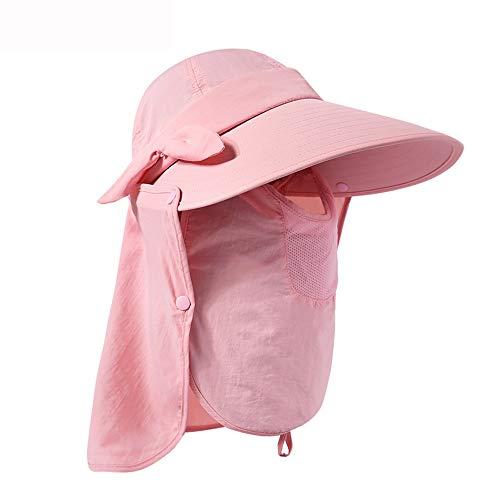 DEWUFAFA Mens UPF 50+ Sonnenschutz Cap Wide Brim Fischerhut mit Hals Flap (Color : B, Size : 58cm)