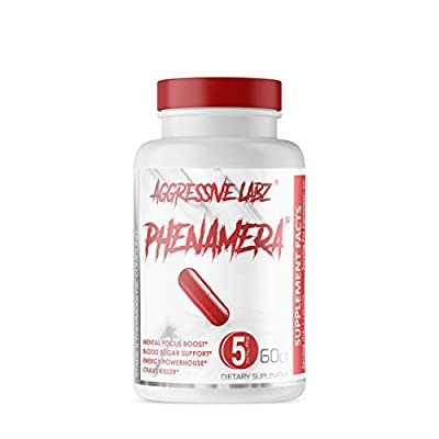 Aggressive Labz PHENAMERA Stage 5 Thermogenic Compound - Increase Energy, Burn Fat, Suppress Appetite, and Improve Mental Focus - 60 Gel Capsules Great for Men and Women
